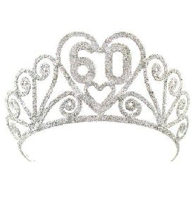 A 60th Birthday Gift for Mom: 60th Birthday Sparkling Silver Tiara @ Amazon