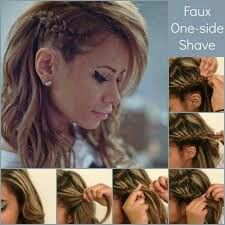 Cute faux side shave look