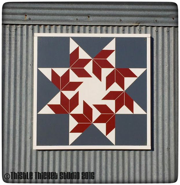 Quilting With Thistle Thicket Studio: Joining The Barn Quilt Craze: DIY Instructions