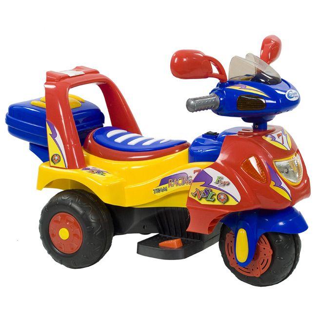 Crystal Baby Police Akülü Motor - Kırmızı ::