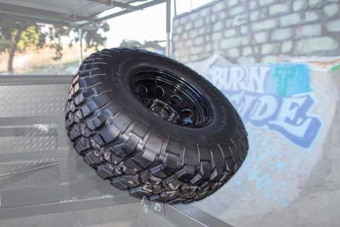 """Spare BFG Tire and Soft '8"""" Rim"""