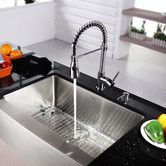 "Found it at Wayfair.ca - Kraus 30"" Farmhouse Stainless Steel Kitchen Sink with Faucet and Soap Dispenser"