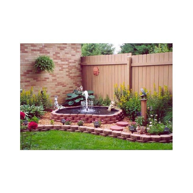 Cheap landscape ideas small garden landscaping ideas for Cheap pond ideas