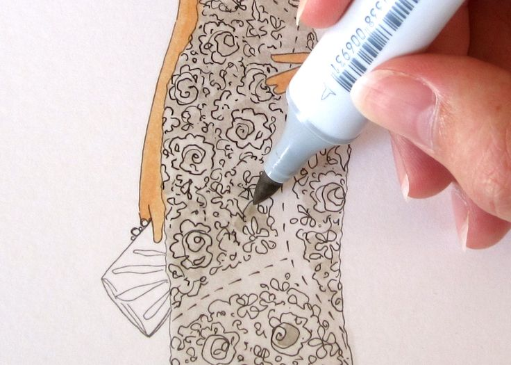 Creating Lace with Copic Markers by Jennifer Hancock
