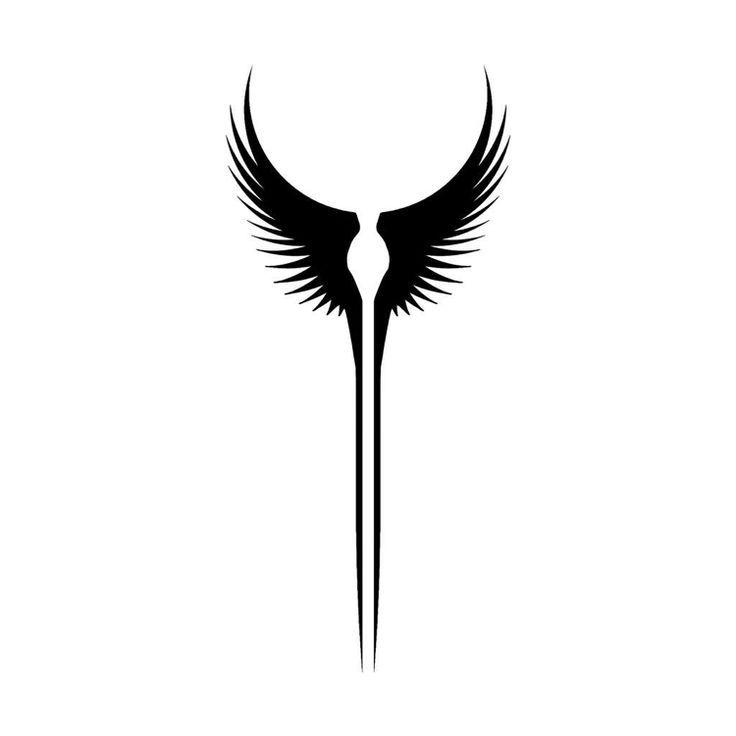 Viking Tattoo Template Walkyre Flugel small motive