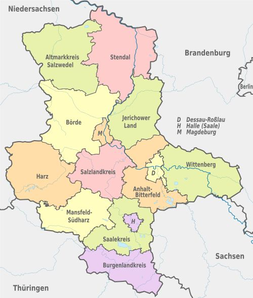 Saxony Anhalt covers an area of 20,447.7 square kilometres and has a population of 2.34 million.. Saxony Anhalt should not be confused with Saxony or Lower ...