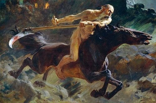 Horseman of the #Apocalypse, oil on canvas, by Ulpiano Checa, Spanish, 1860-1916. Private Collection