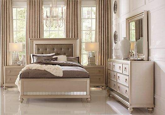 picture of Sofia Vergara Paris Champagne 5 Pc King Bedroom  from King Bedroom Sets Furniture