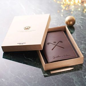Personalised Leather Golf Scorecard Holder. Discover thoughtful, personal and wonderfully unique gifts for him this Christmas. You won't be short of ideas.