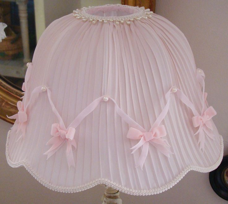 49 best Abat-jour conique shabby chic, lampshade french boudoir ...