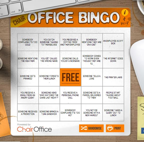 turn the ups and downs of office life into a fun game to play with your co workers