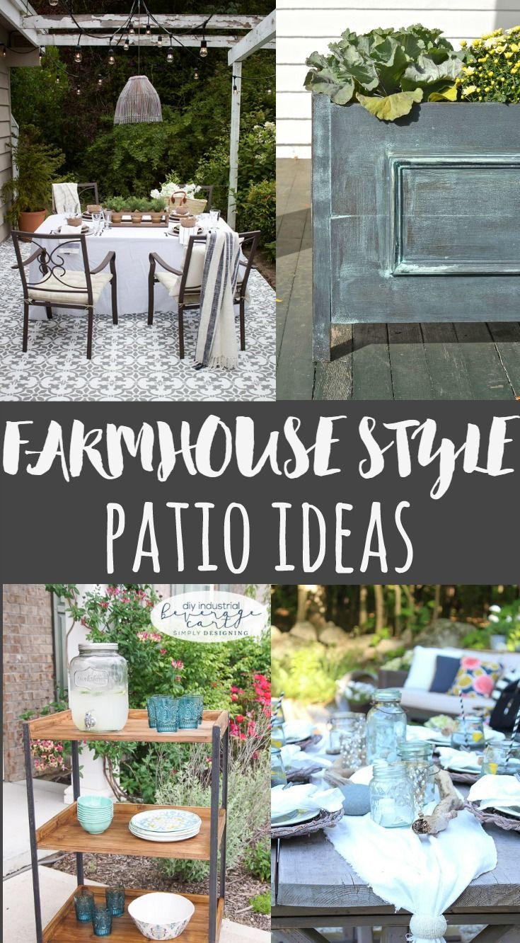 Add Fixer Upper Style to your outdoor space with these Farmhouse Style Patio Ideas