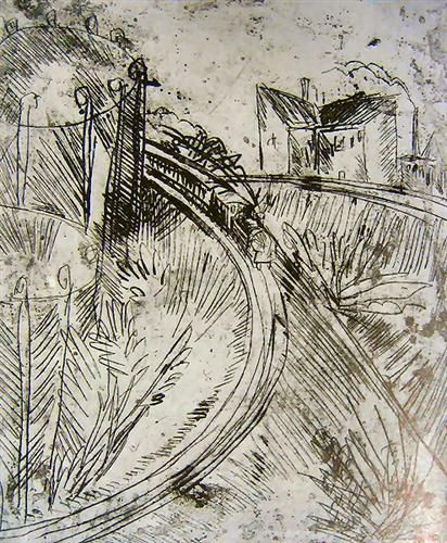 Gasometer in Schöneberg - Ernst Ludwig Kirchner