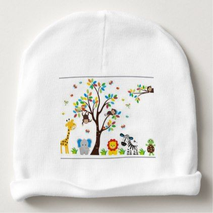 african jungle baby beanie - baby gifts child new born gift idea diy cyo special unique design