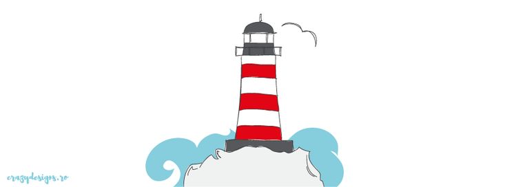 lighthouse illustrated facebook cover by crazydesigns.ro