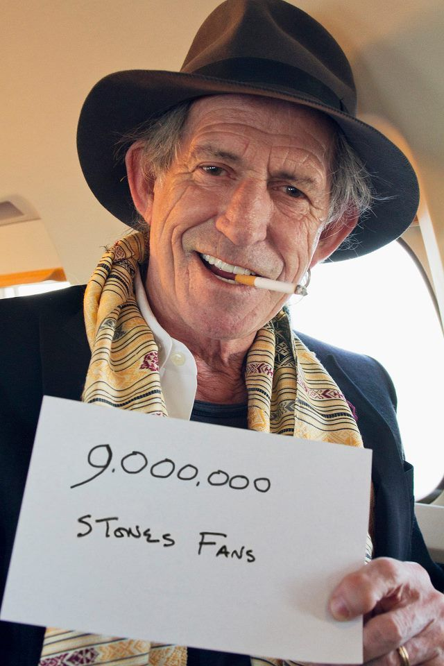 The Rolling Stones recently hit 9,000,000 Facebook likes, & Keith Richards expressed his gratitude.    http://www.rocksquare.com/blog/?p=3071