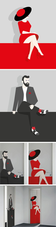 Toilet signs - Men & women illustration on Behance