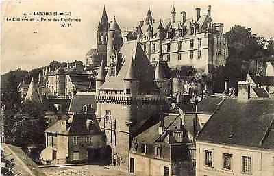 Loches France 1910 Chateau de Loches Door of Cordeliers Antique Vintage Postcard