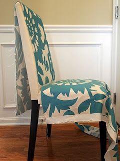 Cómo hacer una rápida funda para silla: Decoración y jardinería | En123Inmuebles.com.ve