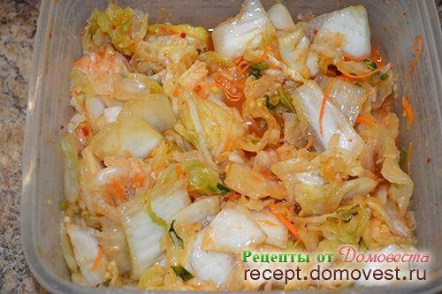 Простое приготовление традиционного кимчи (мак-кимчи)