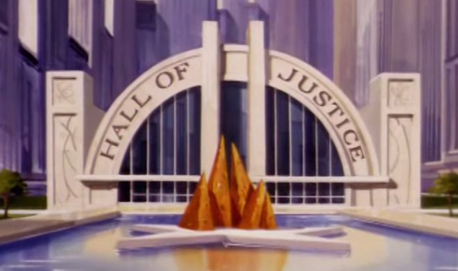 The Hall of Justice from the Superfriends intro.