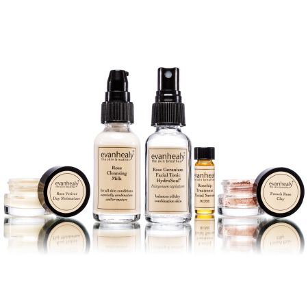 Rose Face Care Kit - evanhealy- there is a little magic in this simple yet powerful skincare line.  My face has never felt so calm and soft.
