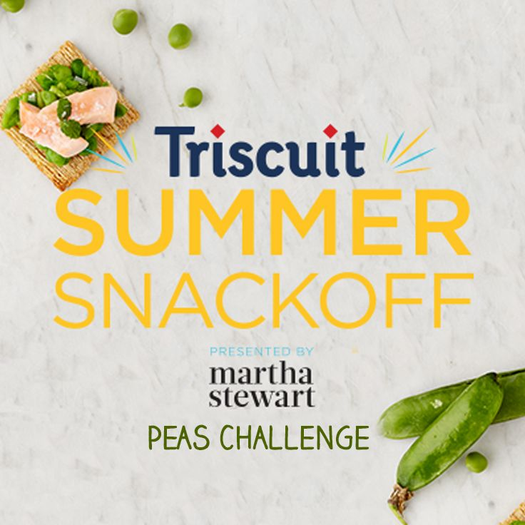Upload your best Triscuit and peas creation for a chance to meet @marthastewart in NYC. Search #TriscuitSnackoff for inspiration, then enter at www.triscuitsummersnackoff.com