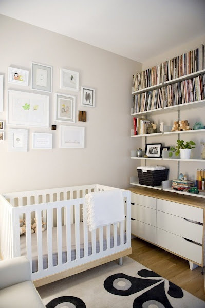 Baby room baby: Books Shelves, Photos Collage, Galleries Wall, Apartment Tours, Baby Rooms, Neutral Nurseries, Small Spaces, Nurseries Ideas, New York Apartment