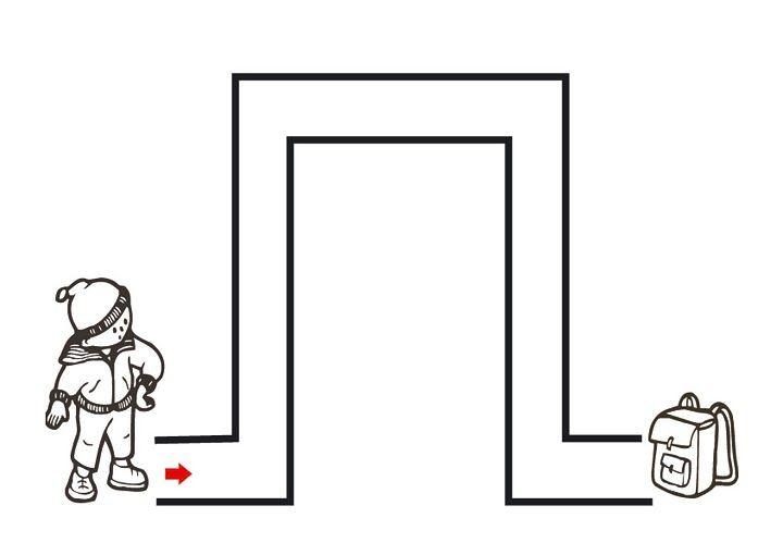 easy maze worksheet for kids (2)   Crafts and Worksheets ...