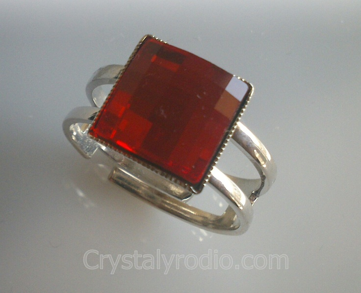Anillo cristal swarovski elements antialergico