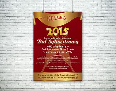 """Check out new work on my @Behance portfolio: """"Poster design for New Year's Eve Ball for Nova Riviera"""" http://be.net/gallery/50864361/Poster-design-for-New-Years-Eve-Ball-for-Nova-Riviera"""