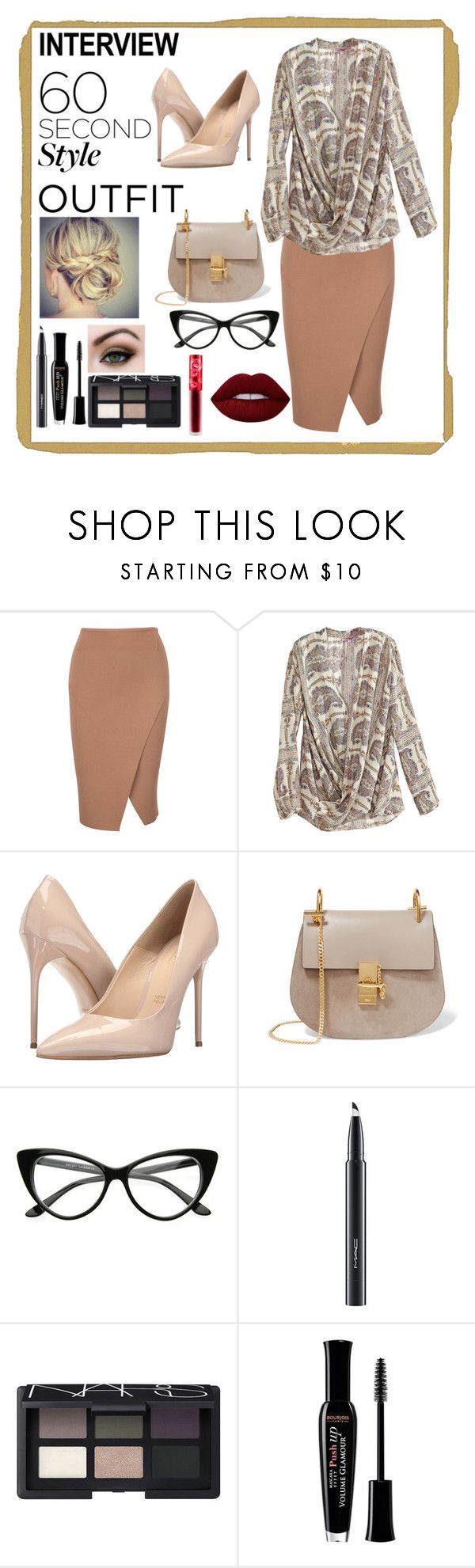 """Job Interview✔"" by haybeebaby ❤ liked on Polyvore featuring Calypso St. Barth, Massimo Matteo, Chloé, MAC Cosmetics, NARS Cosmetics, Bourjois, Lime Crime, jobinterview and 60secondstyle"