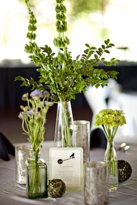 Nice greenery/herby looking centerpiece
