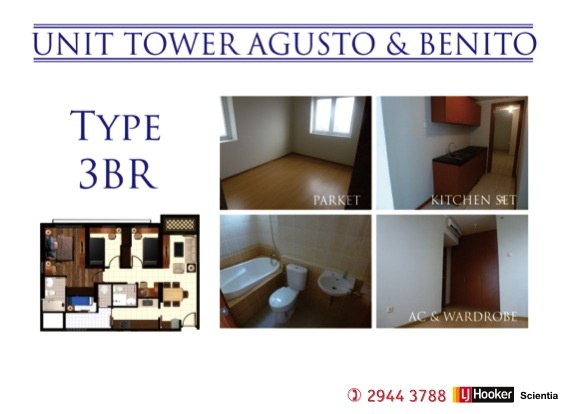 Unit Tower AGUSTO & BENITO  3 Beds Room