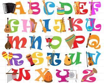 26 clipart musical instruments alphabet clipart digital scrapbook clipart artists scrapbook clip art free