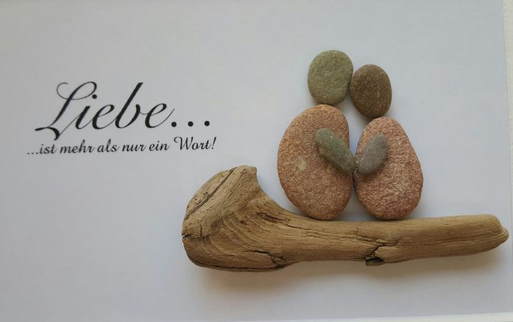 *Liebe ist..... * Bild aus Kieselsteinen  von TAMIKRA auf DaWanda.com