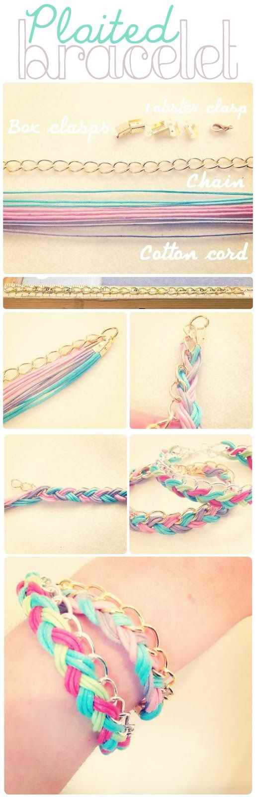 Plaited Bracelet DIY , need to make one of these !