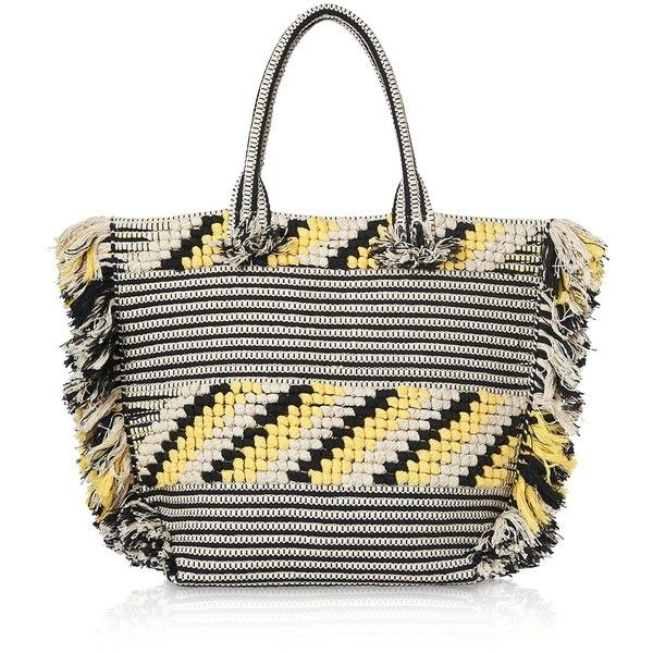Whistles Manzoni Woven Fringe Tote (260 CAD) ❤ liked on Polyvore featuring bags, handbags, tote bags, black, tote handbags, handbags totes, tote bag purse, woven handbags and braided handbag