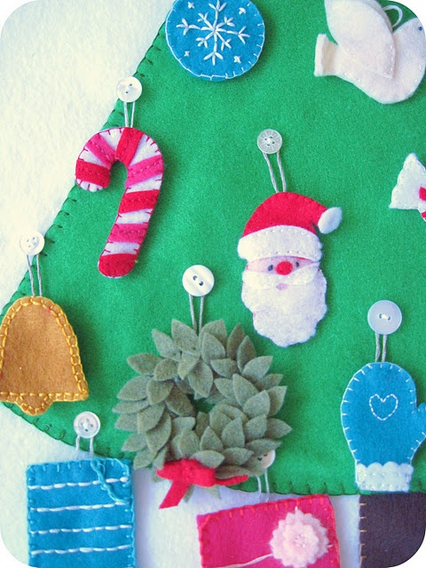 Felt Christmas tree Advent calendar