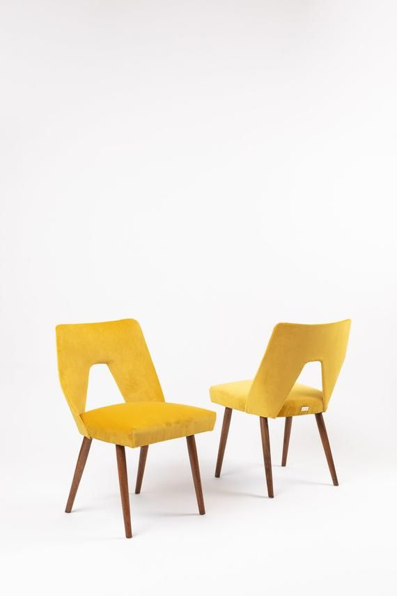Reloved Chair Royal Yellow Upholstered Chair Vintage Chair