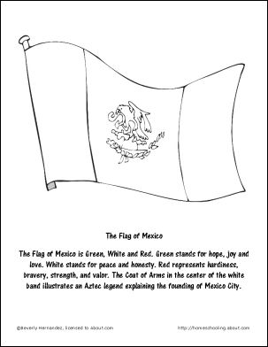 Mexico Wordsearch Vocab Worksheet Crossword And More Flag Of Coloring Page