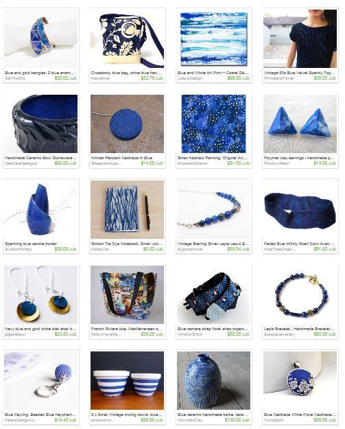 Beautiful blue finds from the Etsy Australian Wandarrah team Gifts for her board. #auswandarrah #etsyau #etsyseller #handmade