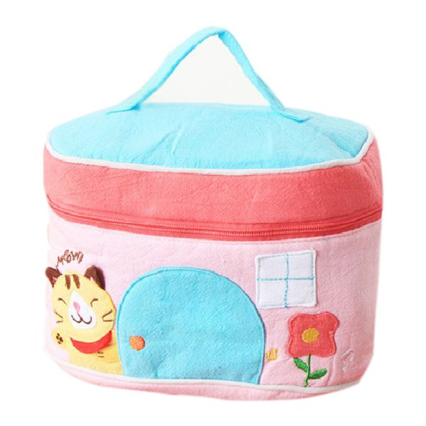 Cotton Cartoon Cosmetic Bag Ladies'Bag Storage Bag Children Bag