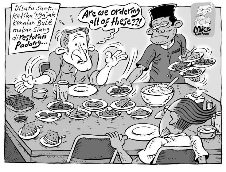 Mice Cartoon: Bule Makan Padang (Kompas, 02.03.2014)