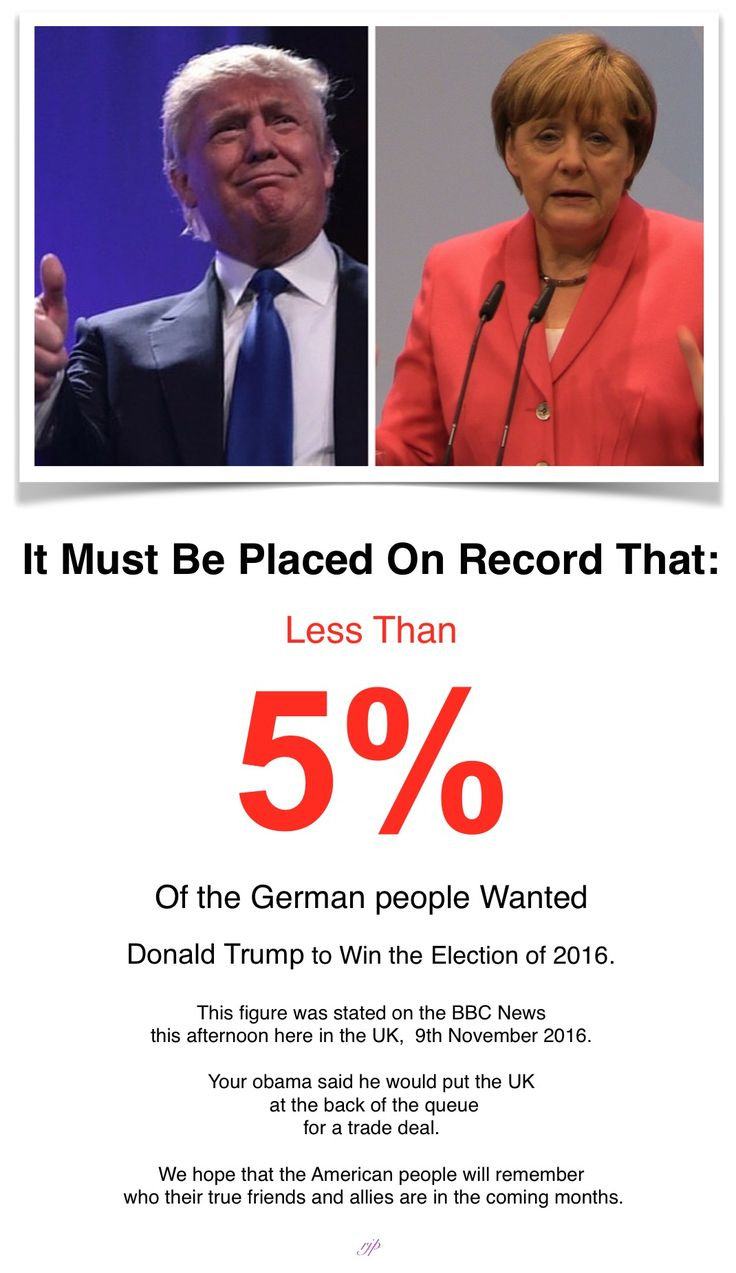 German support for Donald Trump in the 2016 election. Also, on the EUBBC news today they are reporting how shocked and disgusted the Luvvie Leftie Liberals are about the result. They are stating that their aims, beliefs and plans are now shattered. Who said that God wasn't watching over us?