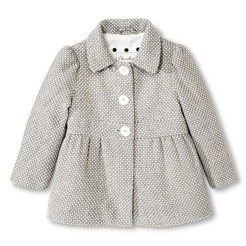 Toddler Girls' Peacoat - Grey // Target $29.99