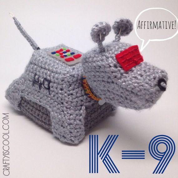 Doctor who k-9 Etsy listing at https://www.etsy.com/listing/180093445/doctor-who-k-9-amigurumi-crochet-pattern