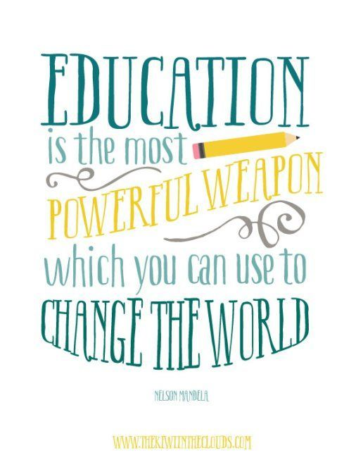 Free Classroom Printable Quote by Nelson Mandela