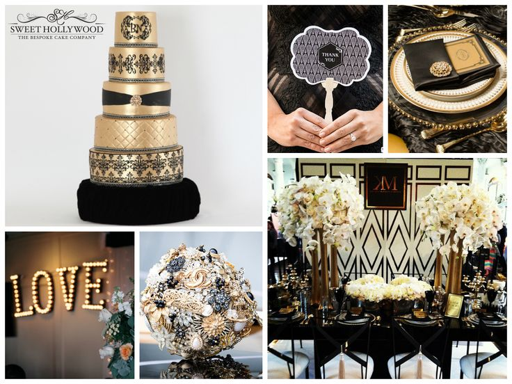 Gold And Black Wedding Ideas: 161 Best Images About Sweet Hollywood Bespoke Wedding