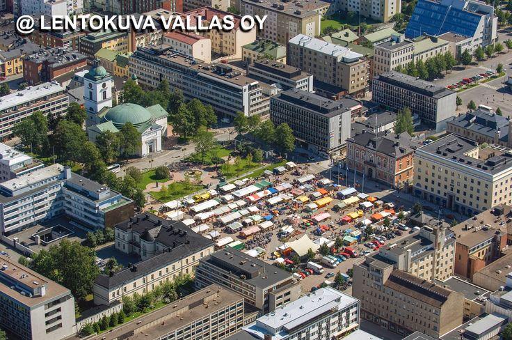 Hämeenlinnan tori Ilmakuva: Lentokuva Vallas Oy